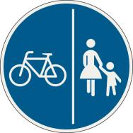 Oddelená cestička pre chodcov a cyklistov