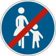 Koniec špeciálnej cestičky alebo pruhu