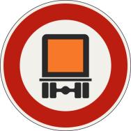 Zákaz vjazdu pre vozidlá prepravujúce nebezpečné veci