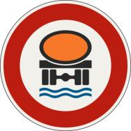 Zákaz vjazdu pre vozidlá prepravujúce náklad, ktorý môže spôsobiť znečistenie vody