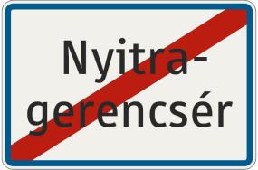 Označenie konca obce v jazyku národnostnej menšiny