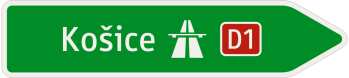Šípový smerník k diaľnici