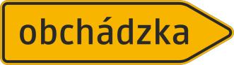 Šípový smerník na vyznačenie obchádzky