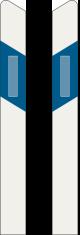 Stĺpik s výstrahou (ľavý) (pravý)