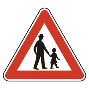 A14: Pozor, chodci