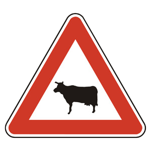 A17: Pozor, zvieratá
