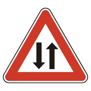 A21: Obojsmerná premávka