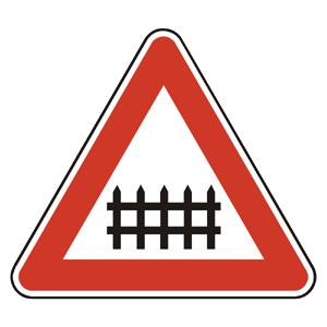 A25: Železničné priecestie so závorami