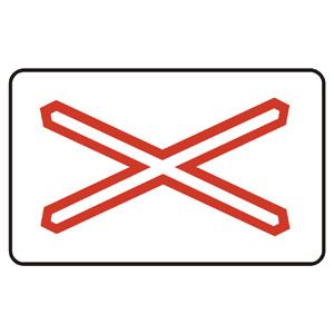 A30a: Výstražný kríž pre železničné priecestie jednokoľajové