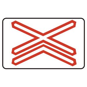A30b: Výstražný kríž pre železničné priecestie viackoľajové