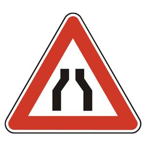 A4a: Zúžená vozovka z oboch strán