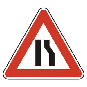 A4b: Zúžená vozovka sprava