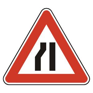 A4c: Zúžená vozovka zľava