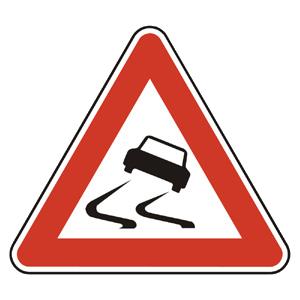 A8: Nebezpečenstvo šmyku