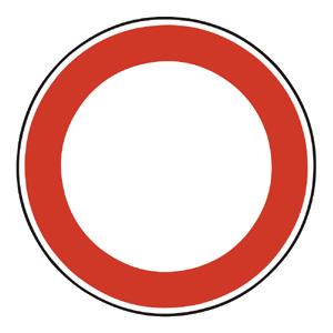 B1: Zákaz vjazdu všetkých vozidiel (v oboch smeroch)