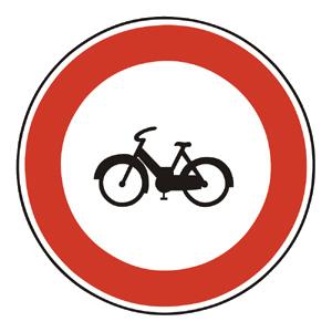 B10: Zákaz vjazdu mopedov