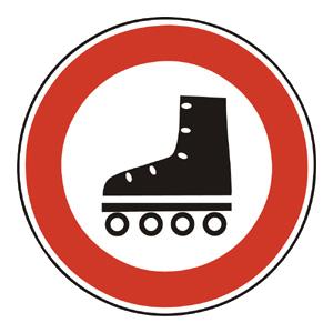 B14: Zákaz vstupu korčuliarov