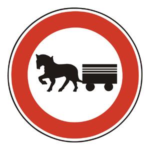 B15: Zákaz vjazdu záprahových vozidiel