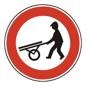 B16: Zákaz vjazdu ručných vozíkov