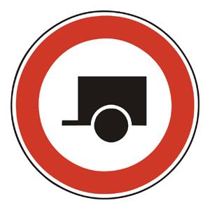 B17: Zákaz vjazdu motorových vozidiel s prívesmi