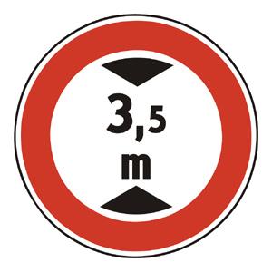 B24: Zákaz vjazdu vozidiel, ktorých výška presahuje vyznačenú hranicu