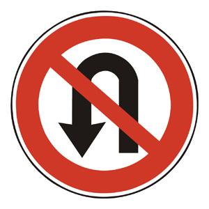 B28: Zákaz otáčania