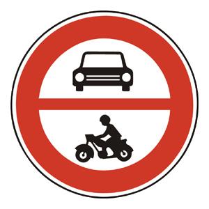 B3: Zákaz vjazdu všetkých motorových vozidiel