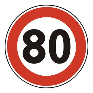 B31a: Najvyššia dovolená rýchlosť