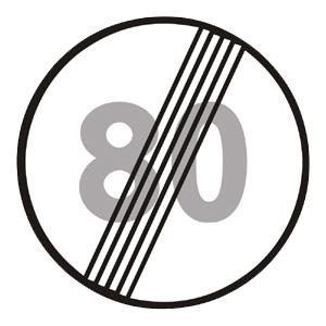 B31b: Koniec najvyššej dovolenej rýchlosti