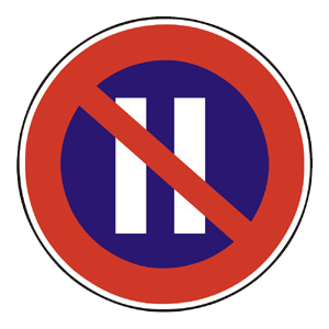 B36: Zákaz státia v párnych dňoch