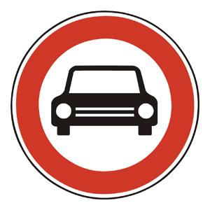 B4: Zákaz vjazdu všetkých motorových vozidiel s výnimkou motocyklov bez postranného vozíka