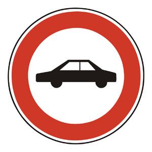 B5: Zákaz vjazdu osobných automobilov