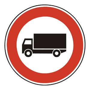 B6: Zákaz vjazdu nákladných automobilov