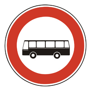 B7: Zákaz vjazdu autobusov