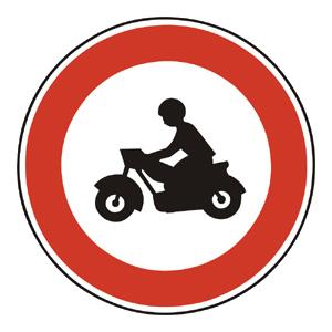 B8: Zákaz vjazdu motocyklov