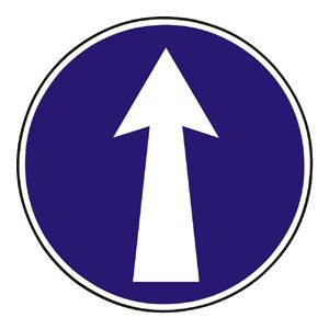C1: Prikázaný smer jazdy priamo