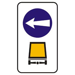 C19: Prikázaný smer prepravy vyznačených vozidiel a vecí
