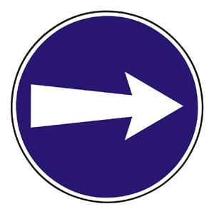 C2: Prikázaný smer jazdy vpravo