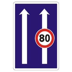 C23a: Obmedzenie v jazdných pruhoch