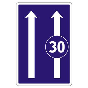 C23b: Obmedzenie v jazdných pruhoch