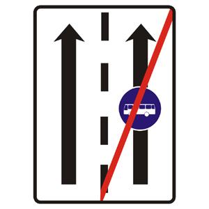 C24b: Koniec vyhradeného jazdného pruhu
