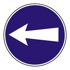 C3: Prikázaný smer jazdy vľavo