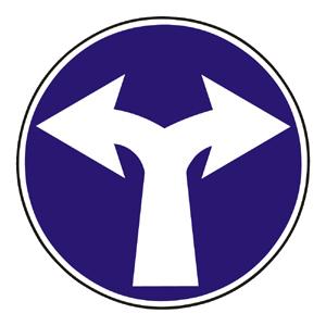 C4a: Prikázaný smer jazdy vpravo a vľavo