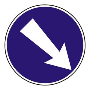 C6a: Prikázaný smer obchádzania vpravo