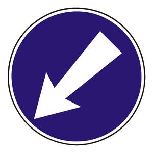 C6b: Prikázaný smer obchádzania vľavo