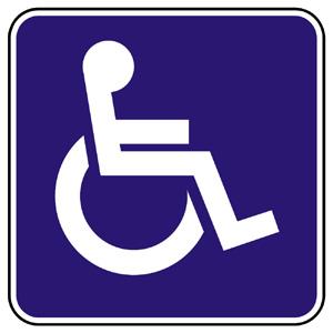 E15: Dodatková tabuľka na označenie vyhradeného parkovacieho miesta pre osobu so zdravotným postihnutím
