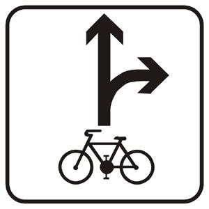 E16a: Povolený smer jazdy cyklistov