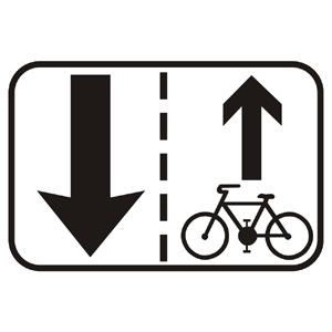 E16b: Jazda cyklistov v protismere povolená