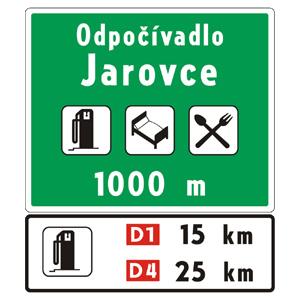 II18a: Odpočívadlo s objektmi služieb (vzor)
