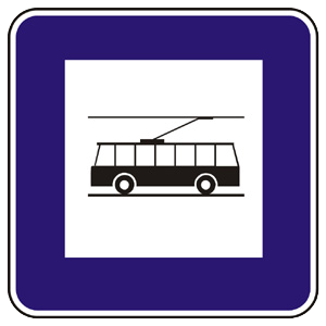 II7b: Zastávka trolejbusu